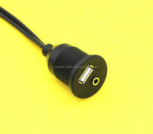 3.5mm female to 2RCA male USB/Aux 2 RCA extension cable cord