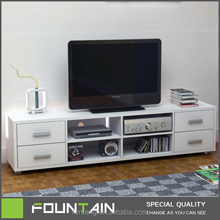 High End Home TV Furniture MDF White Wooden Living Room TV Cabinet