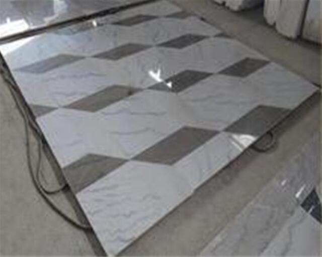 Flooring cladding waterjet marble cut to size tiles