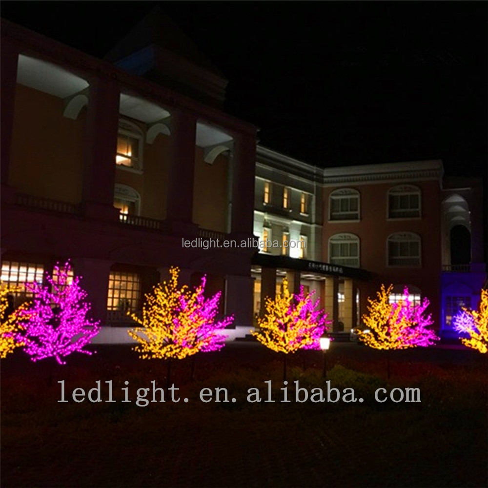 outdoor cherry blossom palm decoration led tree light for wedding