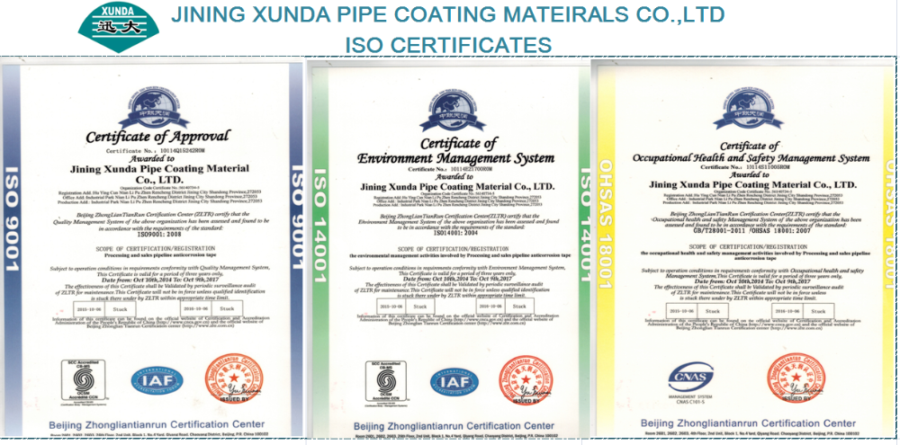 polyethylene anti-corrosion bitumen tape for joints of pipe