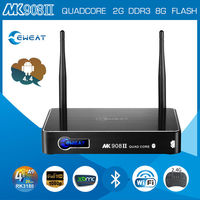 RK3188 quad core smart mini pc bluetooth 4.0 2G DDR/8G Flash google android 4.4 tv box