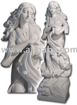 Marble Statue Marble Stone Carving Marble Sculptures - Lady With Pitcher