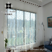 2016 on time modern tulle sheer voile organza panel curtain