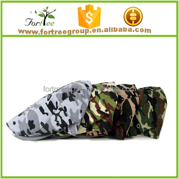 military army hunting camo flat beret hat