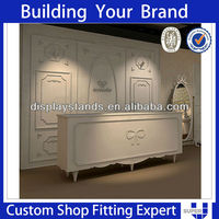 Tailor Made White Modern Wooden Clothes Shop Reception Desk Counters Design