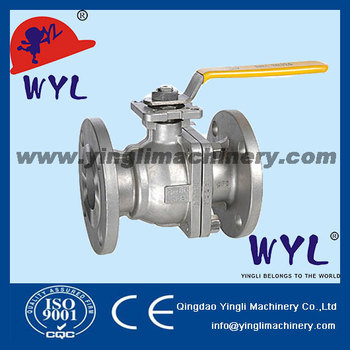"BALL-VALVE-3-PIECE-FLANGED 1"" DIN2999 CF8"