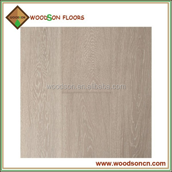 Selected White Stained Brushed Oak Engineered Wood Flooring