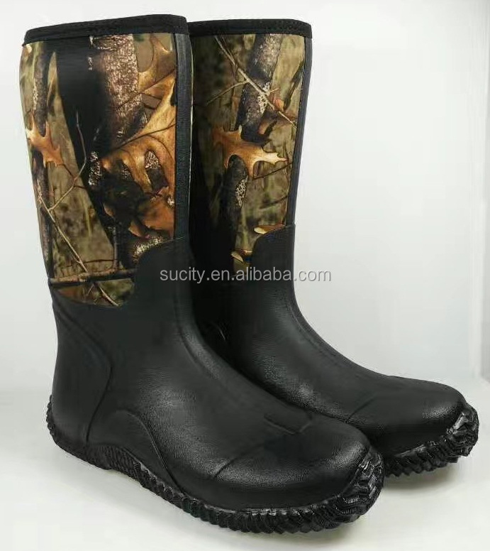 hot sale camo neoprene rain boots for men