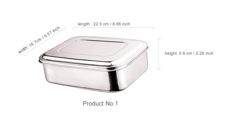 2020 New Style King-Check Tableware 18/8 FDA Standard Stainless Steel Bento Box For Children School lunch box