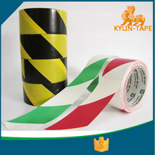 red and white pvc hazard warning tape with adhesive