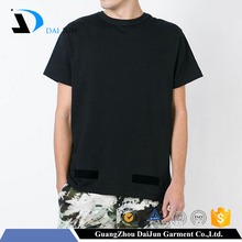 Daijun factory cheap mens cotton blank rock hip hop blank t-shirts