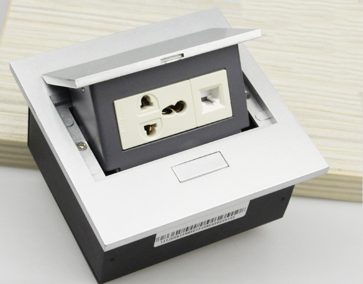 The customizable neatly conceals power points below the work surface unit needed in which case