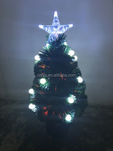 Battery Opertion Tabletop Small Fiber Optic Christmas Tree