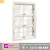 Latest design pvc 3 panel triple hung windows with grill design