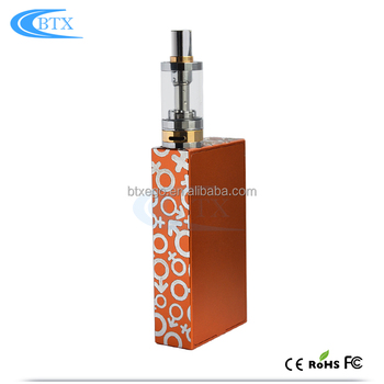 E Cigarette Vape ecig box mod 4.0ml capacity atomizer vape glass tank