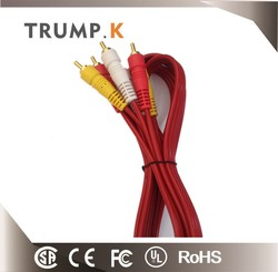 New product 3 RCA to 3RCA cable MALE to MALE AV CABLE