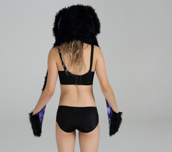 Custom Winter Hotsale Sexy Black Animal Girls ladies hats wholesale