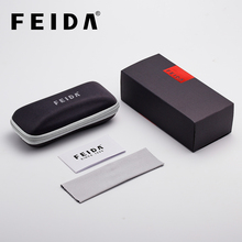 Box FEIDA Logo Fashion Sunglasses Case Eyeglass Cases For Sun Glasses Box Black Without Glasses