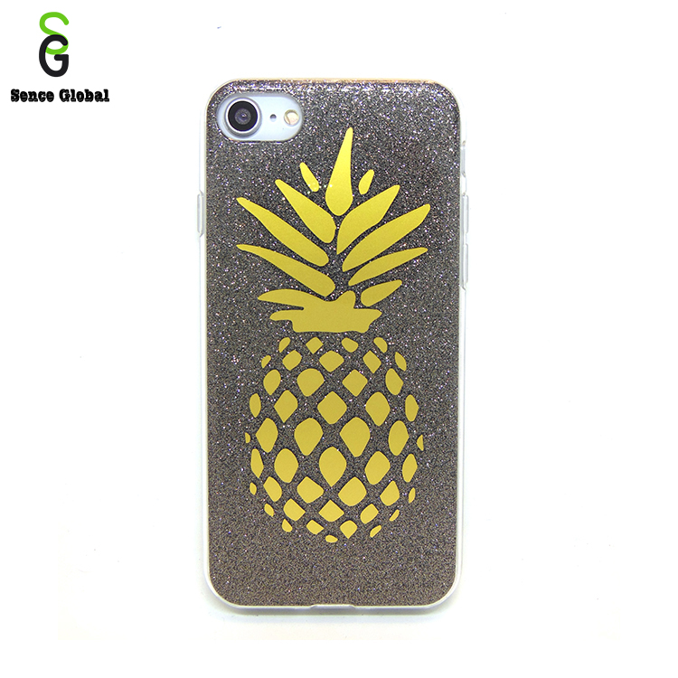 3d sublimation imd uv printing tpu case for iphone 6 7 8 cover with pineapple picture