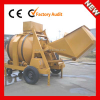 Easy to operate JZR500 mobile diesel engine concrete cement mixer prices