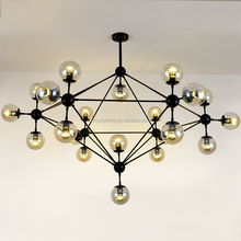 10 Lights Modo Round Glass DNA LED Chandelier Pendant Lamp Ceiling Lighting Lights