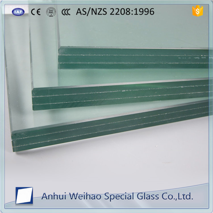 Factory Safety bullet proof laminated glass for bank standard