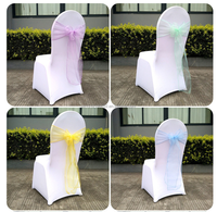 Wholesale Cheap Wedding Chair Cover Bows Ribbon Sash for Wedding