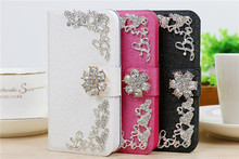 2014 New product rhinestone purse leather case for Samsung galaxy note 2
