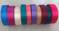 Huzhou Wholesale Manufacture Polyester Satin Color Ribbon Tape