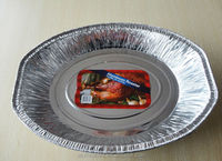 Christmas cooking tools food grade oval aluminum foil trays for turkey