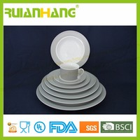 wholesale white wedding home custom bone china crockery dinnerware