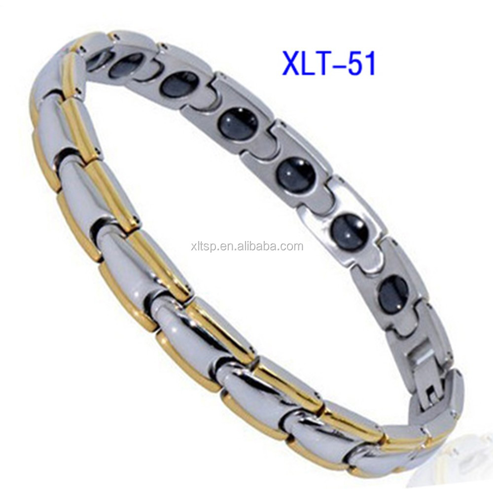 2017 hot sales bio energy magnetic health stainless steel bracelet