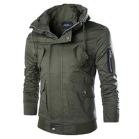 zipper slim fit men's winter Jacket coat