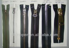 fancy metallic custom polished coat zipper