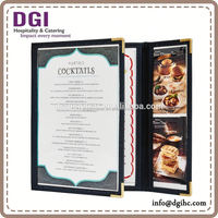 Dragon Gear - 3 Panel restaurant menu book / pvc card holder for Good Reseller / bathroom amenities