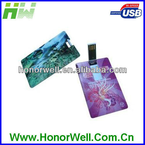 Rectangle Business card usb pen drive for hot sell free logo