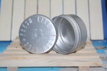 250gr empty aluminum can with screw on lid for hair,empty round metal box