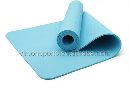 Hot sale Anti-burst Eco-friendly PVC Fitness TPE 6mm red Yoga Mat