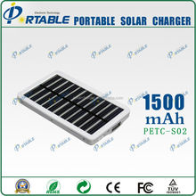 Travel products 2015 portable 1500mah solar charger car battery