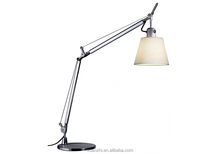 9.15-3 parchment paper or in silk satin fabric plastic frame cantilevered arms Table Lamp