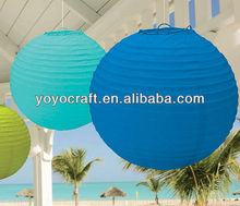 "16"" Colorful Paper Lantern Hanging Decorative Wedding Party Decoration from YOYO crafts"