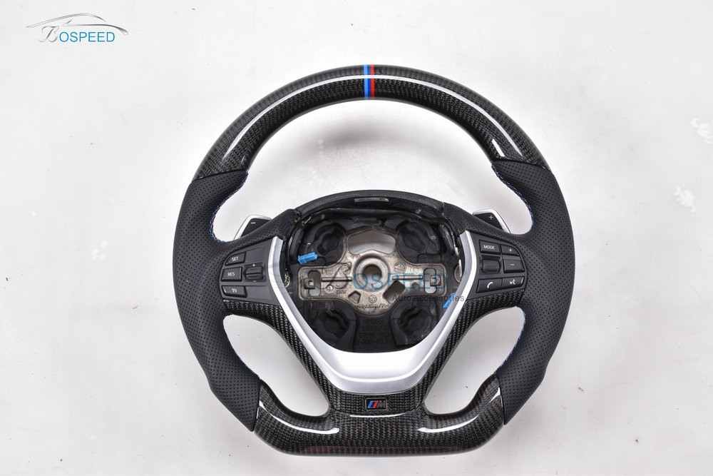 350mm Carbon Fiber racing car steering wheel for B MW 1-4Series