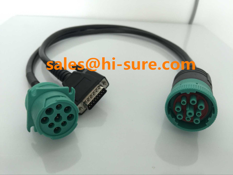 Deutsch 9-pin J1939 cable to DB15P Split Y Cable