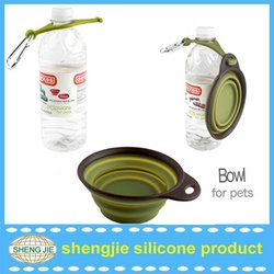 Silicone travel dog bowl for promotional gift