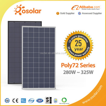 solar power 72 cell 300 310 320 325 watt pv photovoltaic transparent thin film solar panel module