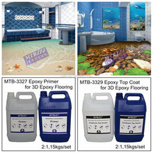 Waterproof Anti-slip Epoxy Resin 3D Floor Paint for Home Floor Decoration