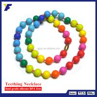 Silicone Teething Necklace /Rainbow Silicone Necklace/Silicone Rubber Necklace Cord