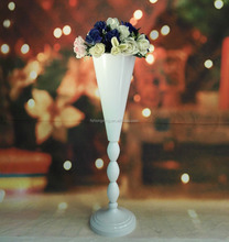 party white metal flower vase /stand for wedding table decoration centerpieces