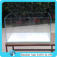Thick acrylic 5 sided storage box, customized merchandising plastic display case wholesale